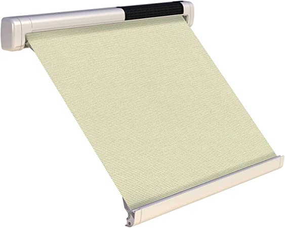 SOL-LUX 72 Home Window Awning Cream Fabric Signal White Case