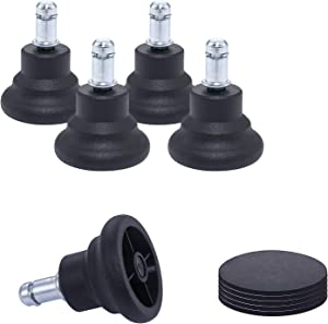 Office Chair Bell Glides with Felt Pads,Office Chair Caster Replacement,Shockproof and Non Slip,Heavy Duty 550lbs,Protect Floors,Furniture Feet,Desk Chair,Swivel Chair,Task Chair No Wheels,11mm