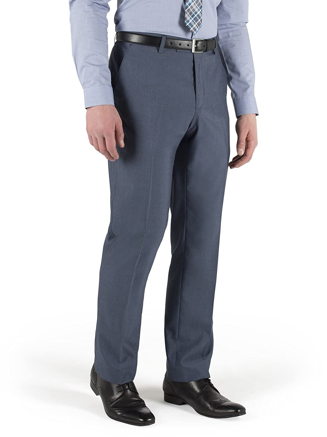 Suit Direct Limehaus Blue Tonic Slim Fit Suit Trouser - LH120710 Single Breasted Slim And Skinny Fit Mixer Trouser