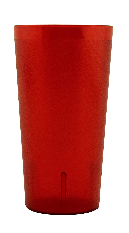G.E.T. Enterprises Red 32 oz. Tumbler, Break Resistant Dishwasher Safe San Textured Tumblers Collection 6632-1-R-EC (Pack of 4)