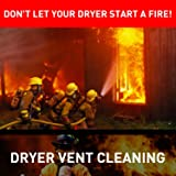 Holikme 25 Feet Dryer Vent Cleaning Brush, Lint