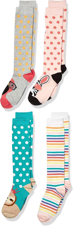 Brand Spotted Zebra Girls 4-Pack Knee Socks