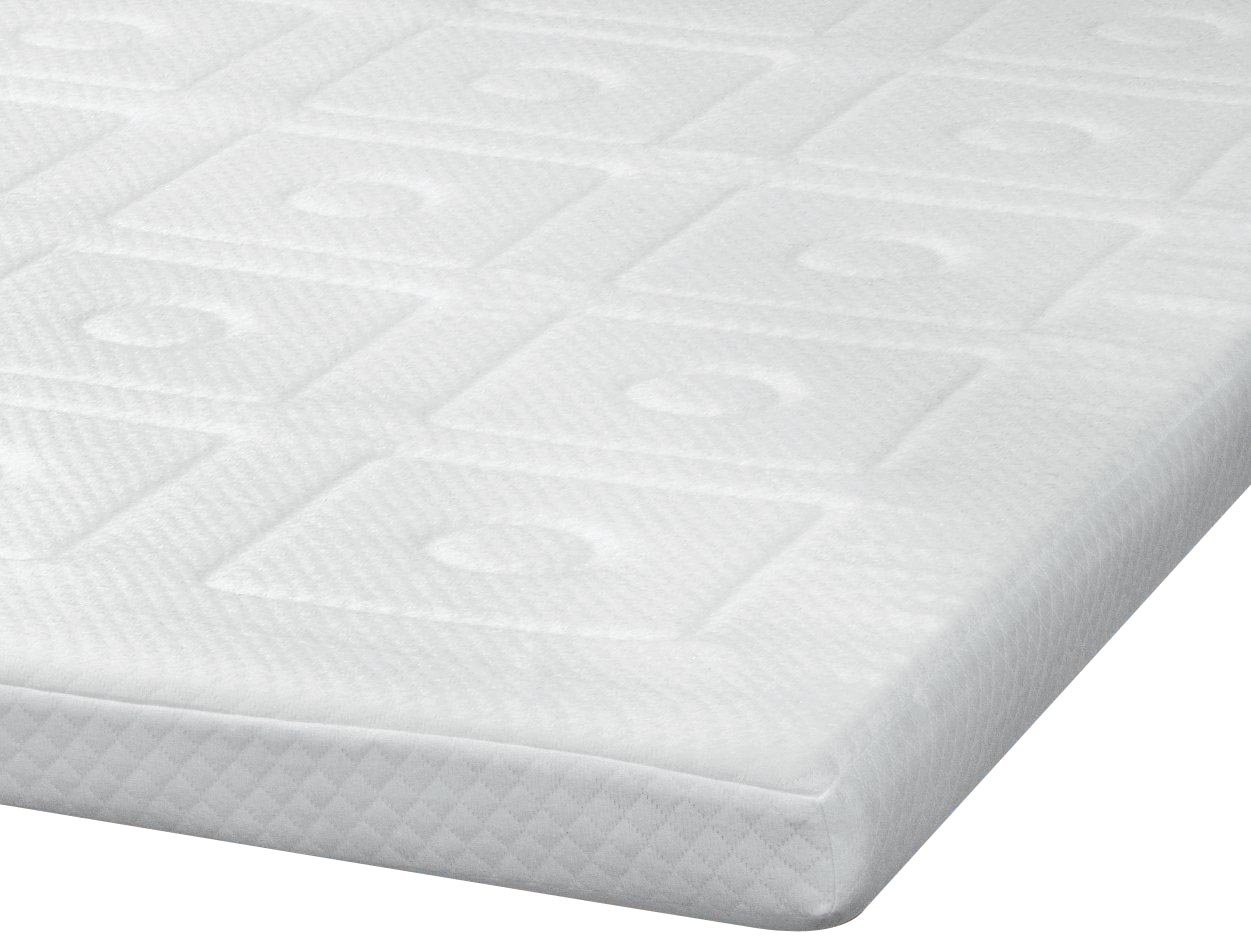 SensorPEDIC Luxury Extraordinaire 3-Inch Quilted Memory Foam Mattress Topper, King Size, White