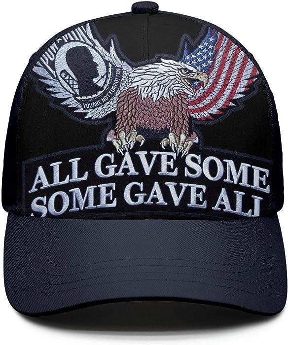 efce3e96d96 JJOJJ Mens Baseball Cap pow mia Snapback Dad Golf Hats for Men Women ...