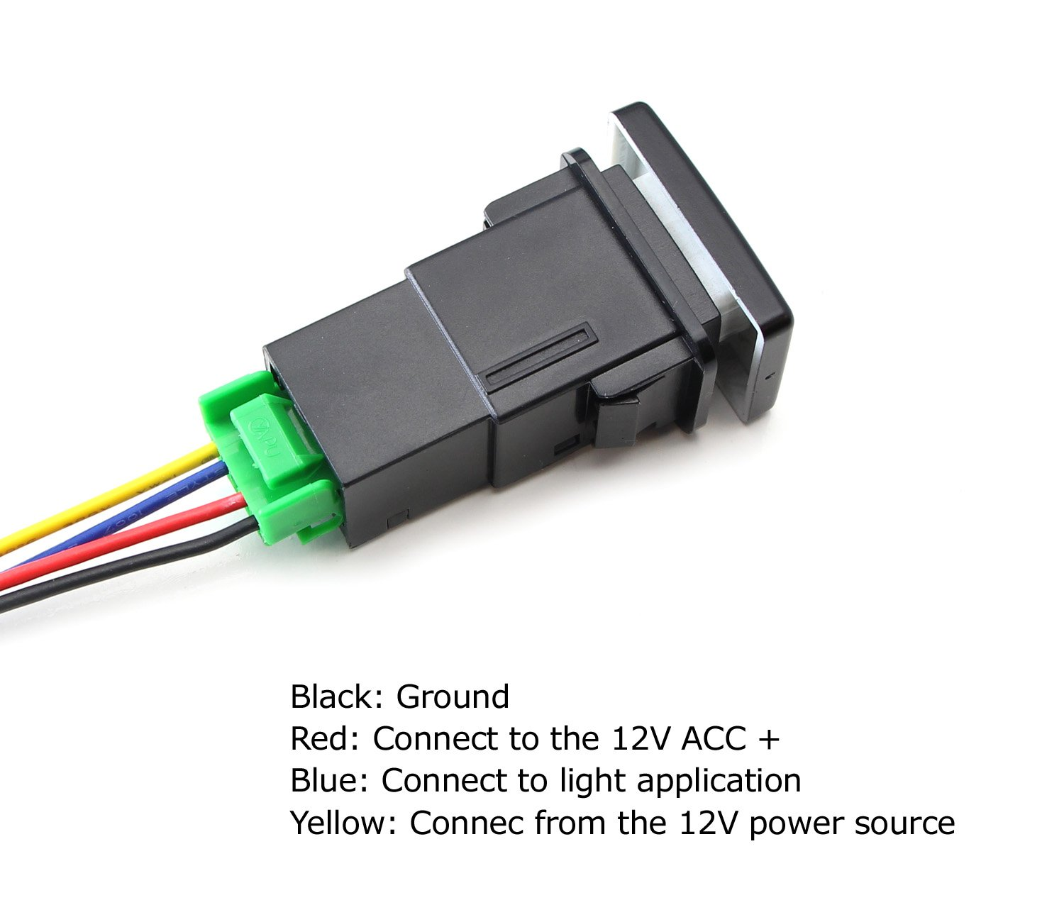 Amazon.com: iJDMTOY (1) Factory Style 4-Pole 12V Push Button Switch ...