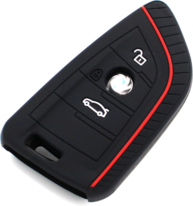 Finest-Folia Cover in silicone per chiavi dell/'auto a 3 tasti verde lime