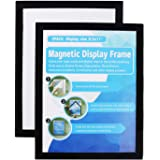 MFoffice Window Sign Holder - Plastic Picture Frames 8.5x11'' - Double Sided and Adhesive for Wall/Door/Refrigerator/Cupboard