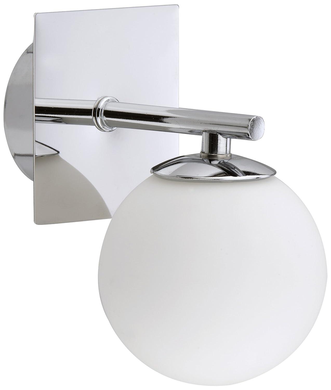 Briloner Leuchten 2146-018 Applique murale halogène de salle de bains avec 1 ampoule G9 eco Saver Chromé