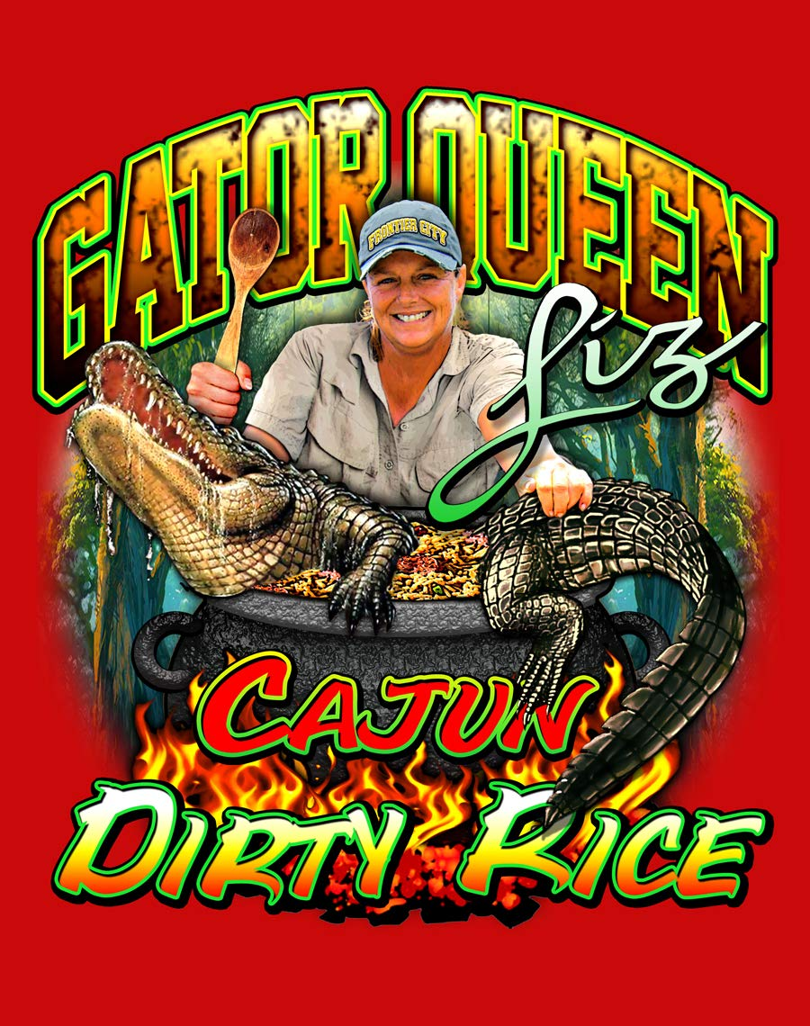 Gator Queen Liz 24 Hour Hurrican Kit (4oz. package freeze dried blueberries, Brown Sugar N Cinnamon Oatmeal, Cajun Dirty Rice, Cajun Chicken Fricassee, Fruit Drink Mix, and Salt n Pepper Packages)