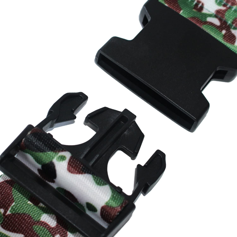 verde negro rosa rojo Correas de equipaje para maleta iridiscentes cinturones de viaje 175 cm SEPOX 2//4 piezas camuflaje Multicolor camouflage Ordinary Buckle