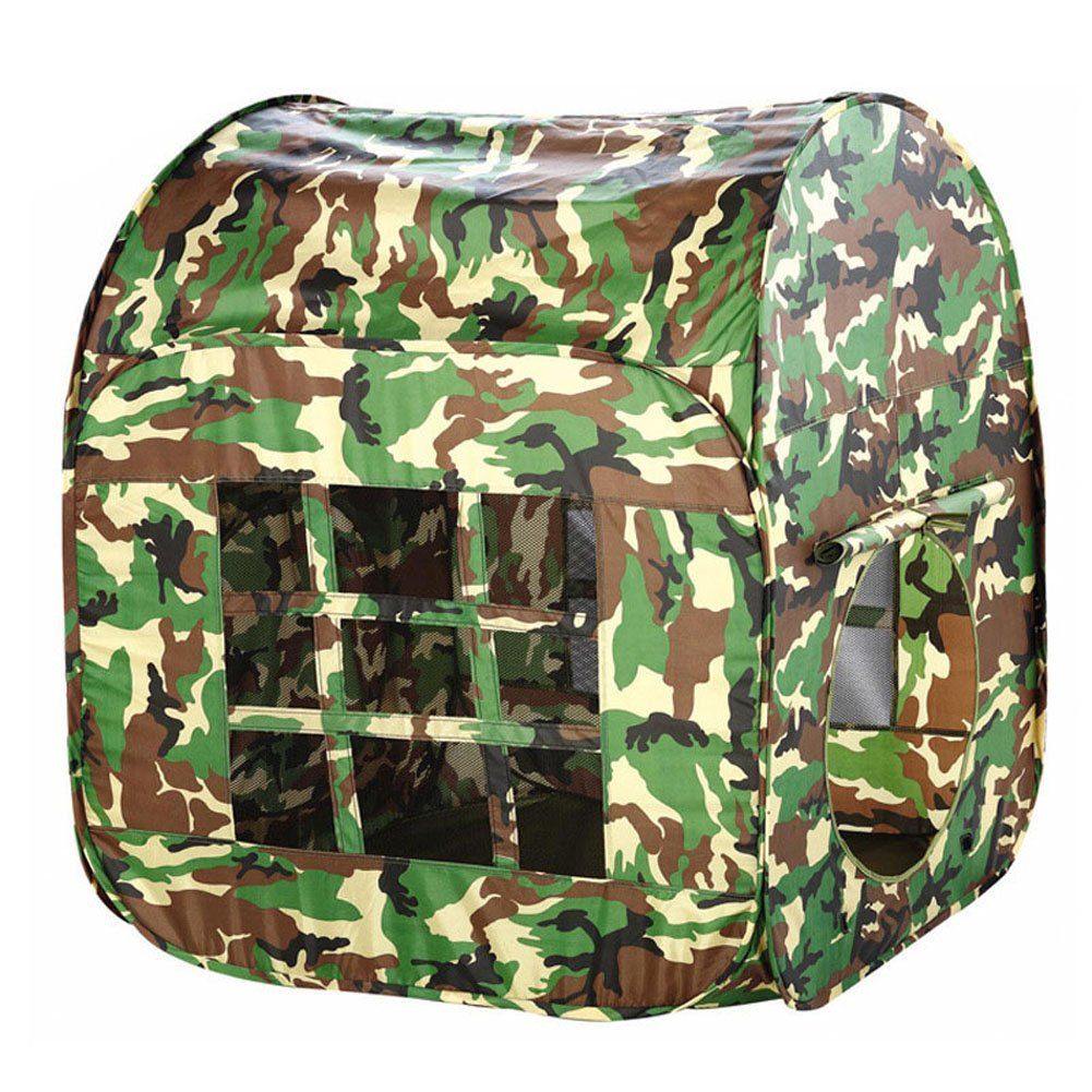 Bininbox Little Kids Casa Boy Game Play Tent Outdoor Army Green Foldable Tent