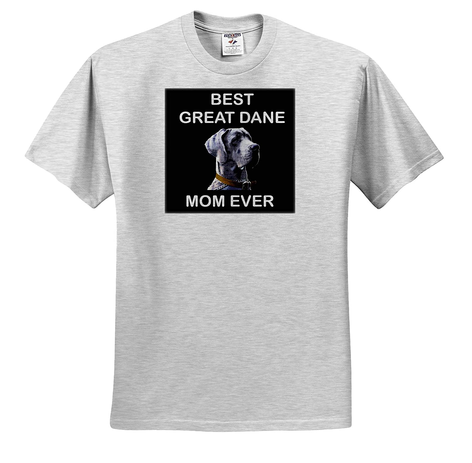 Portrait of Great Dane Dog with Best Great Dane Mom Ever 3dRose Sven Herkenrath Dog T-Shirts