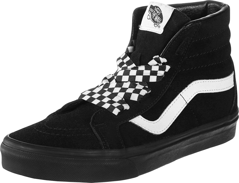 Sneakers alte Donna   Scarpe Check Wrap Sk8 Hi Alt con stringhe (Check Wrap) BlackBlack   Vans