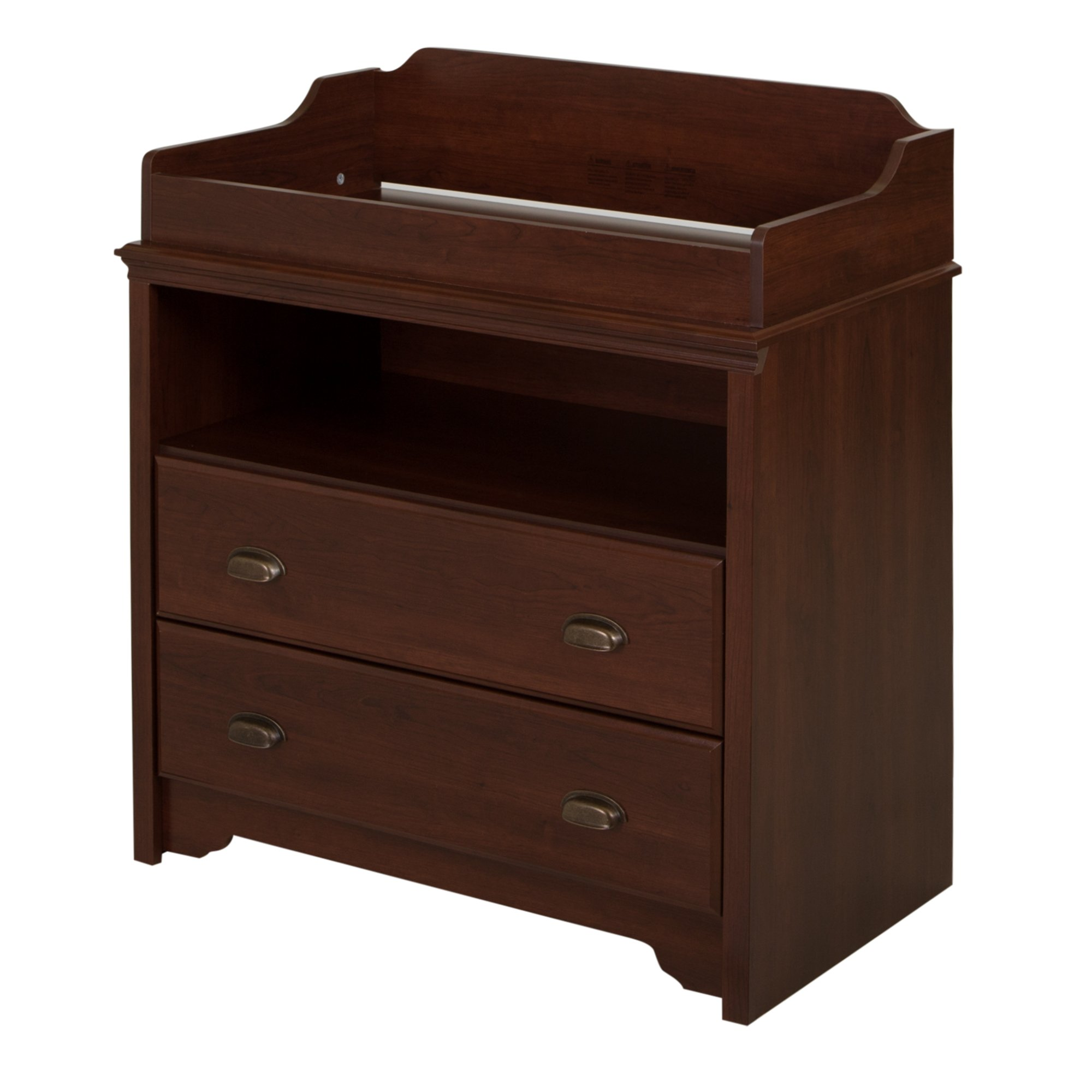 South Shore Fundy Tide Changing Table, Royal Cherry