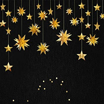 MERRY CHRISTMAS SHINY GOLD LARGE SIZE PEEL  3D WALL STICKER BUNTING DECORATION
