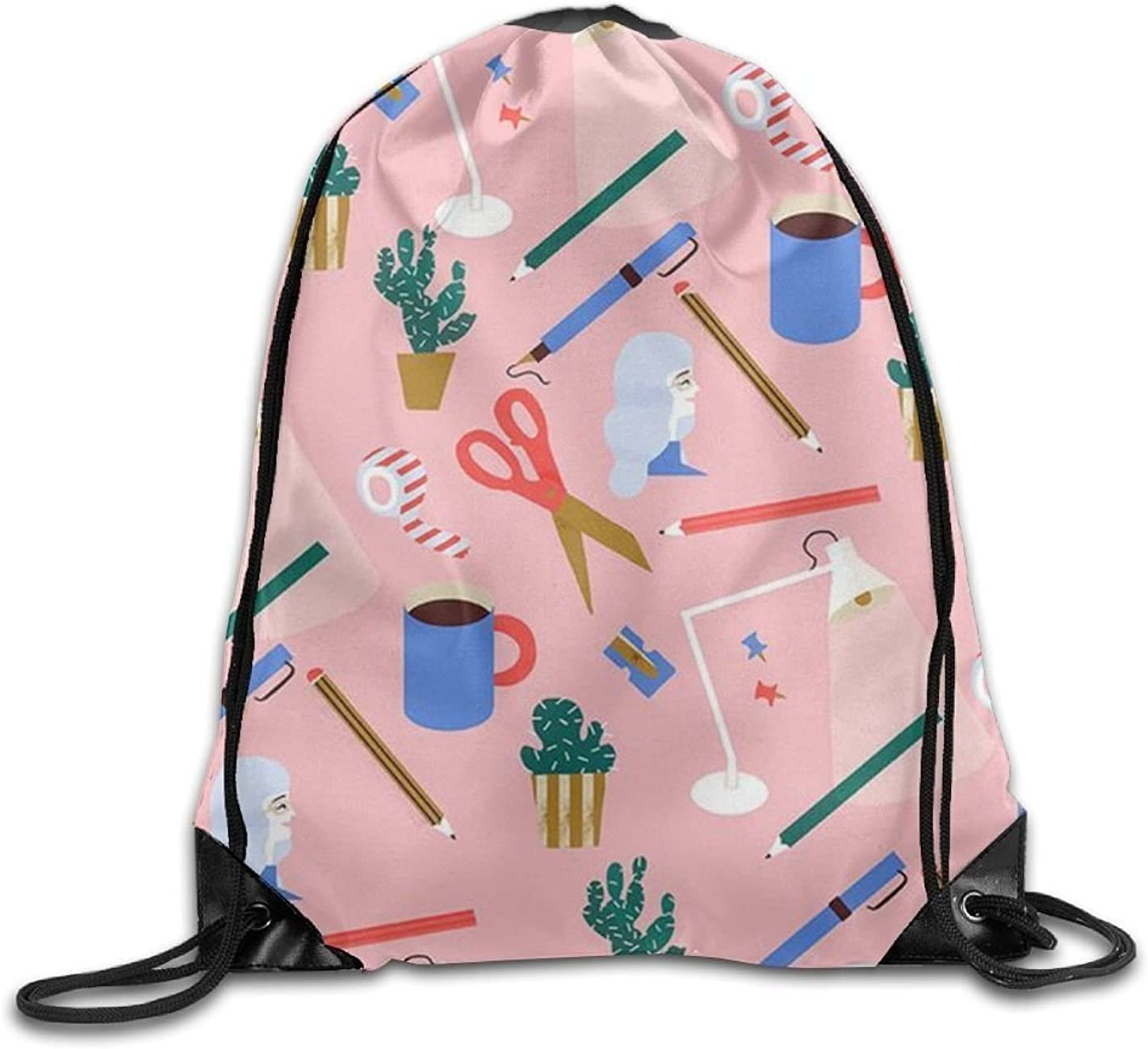 Ping Pong Printed Cute Drawstring Backpack Teen Girl Lightweight