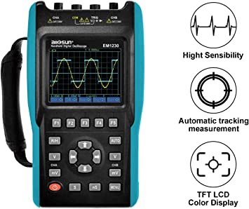 2 In 1 Auto Handheld Oscilloscope Multimeter 25MHz 1 Channel DMM LED Backlight