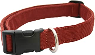 product image for The Good Dog Company-- Hemp Corduroy Dog Collar Available in 9 Colors (Rust, Marigold, Bronze, Avocado, Blue, Plum, Pink, Red, Black) Sold in 6 Sizes