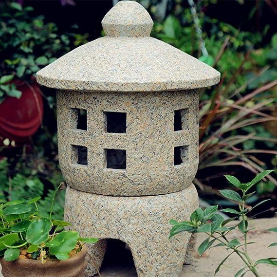Decoración De Jardín Piso Al Aire Libre Linternas De Piedra Lámpara De Jardín Japonesa Antigua Lámpara De Palacio Inicio Decoración Al Aire Libre Para Interiores Paisaje Zen - (A B C D)