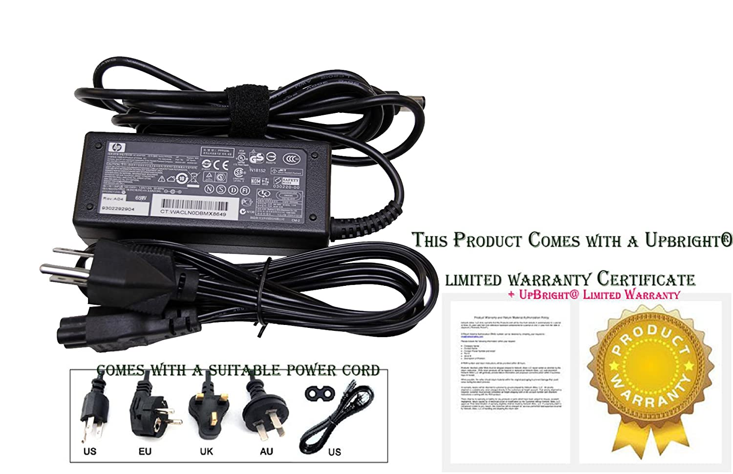 Amazon.com: Laptop Notebook Charger for HP HP PAVILION g7-1219wm 18.5V 3.5A 65W Adapter Adaptor Power Supply (US Power Cord Included): Computers & ...