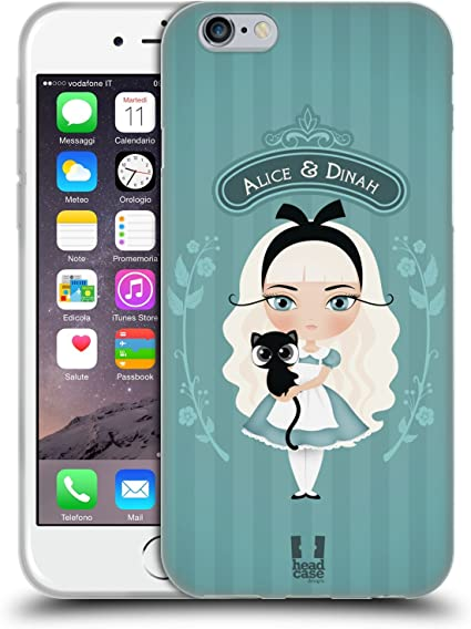 Head Case Designs Alice E Dina Alice nel Paese delle Meraviglie Cover in Morbido Gel Compatibile con iPhone 6 / iPhone 6s