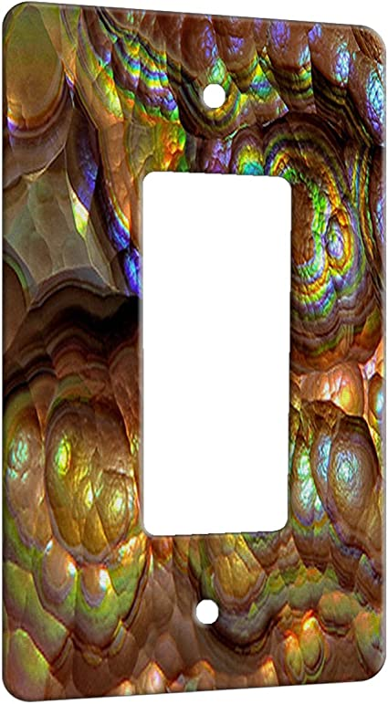 Crystal Rainbow Opulence Decor Switch Plate Cover Metal 1 Gang Decora Gfci Wall Plate Metal