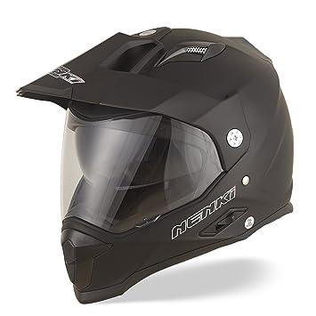 Dual Sport Aventura Enduro Casco de Motocross NENKI NK NK-313 ECE Aprobado (Mate