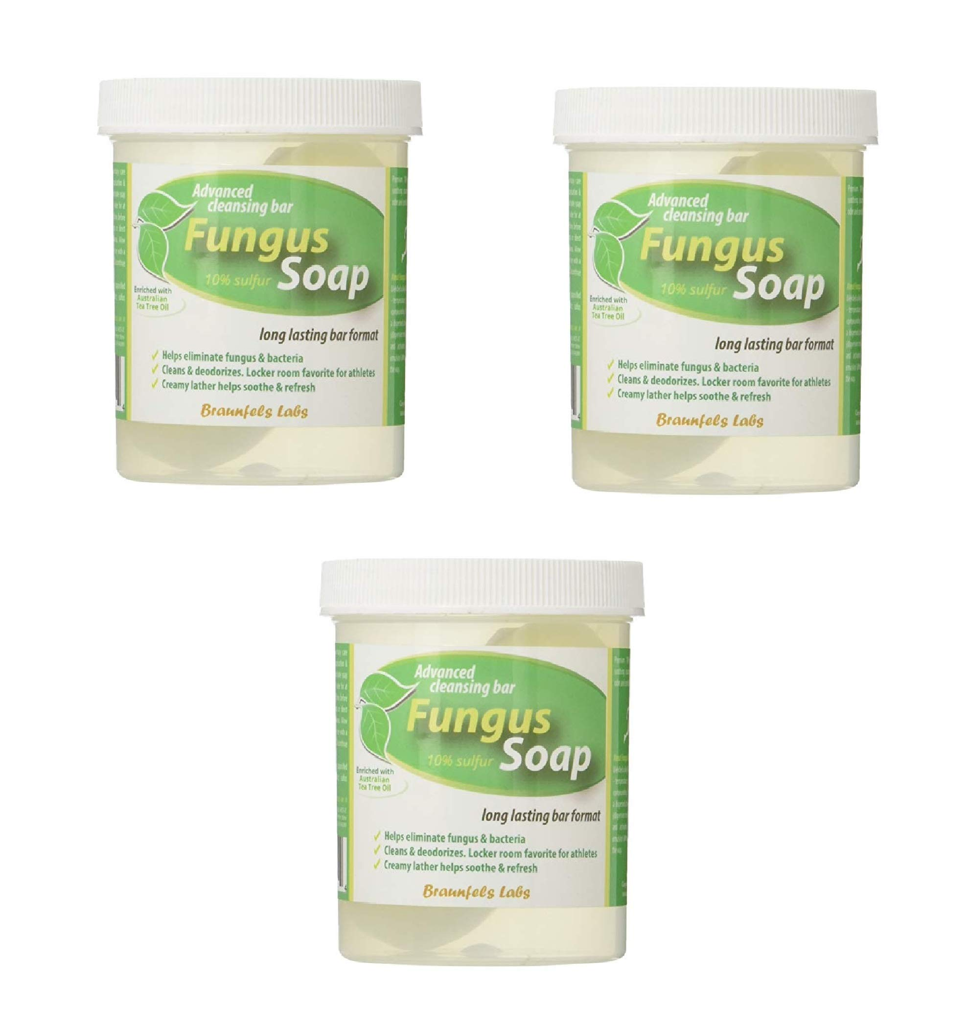 Fungal Soap - Tinea Versicolor, Tinea Corporis, Foot Tinea (Athletes Foot), Tinea Cruris (Jock Itch) (3 Pack)