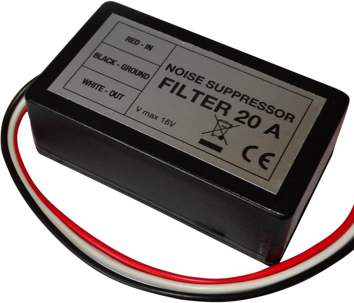 AERZETIX: Filtro antiparasitos 20A 12V para autoradio