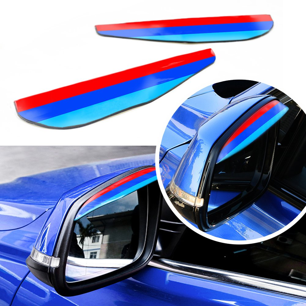 3D M styling Rain Eyebrow Board For BMW All Series Rain Remover Mirror Visor Side Mirror Cover Rainproof Car Accessories View Limited Accident Prevention 1 Series 2 Series 3 Series 4 Series 5 Series 6 Series 7 Series X1 X2 X3 X4 X5 X6 etc.2pcs set autotope