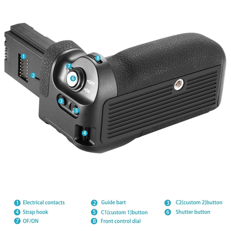 Compatible avec Sony A9 A7RIII Batterie Non Incluse Neewer NW-A9 Poign/ée Alimentation Verticale de Rechange pour VGC3EM avec 2,4G Hz D/éclencheur sans Fil de 100 m/ètres