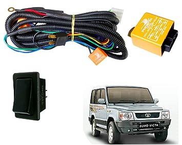Autopearl H4 Headlamp Wiring Harness Kit for Tata Sumo Victa ... on fuel line kit, transmission kit, timing belt kit, hose kit, wiring connector kit, coil kit, air bag kit, wiring tools kit, strat wiring kit, oil cooler kit, fan kit, exhaust kit, bumper kit, wiring thermostat, wiring light kit, car wiring kit, timing chain kit, headlights kit,
