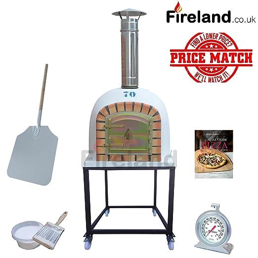 Portátil al aire libre horno de leña ladrillo Pizza 70 cm Mega ...