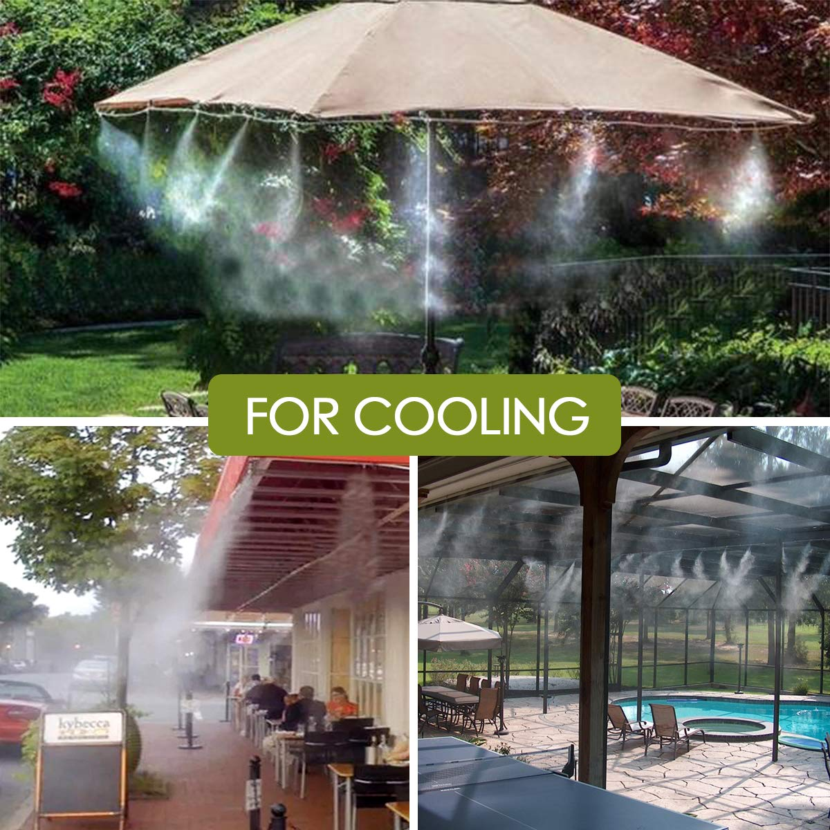 KING DO WAY Drip Automatic Irrigation Watering Tool Kits Gardening Accessories Dripping//Misting Nozzles /& Tee Connectors Misting Nozzles