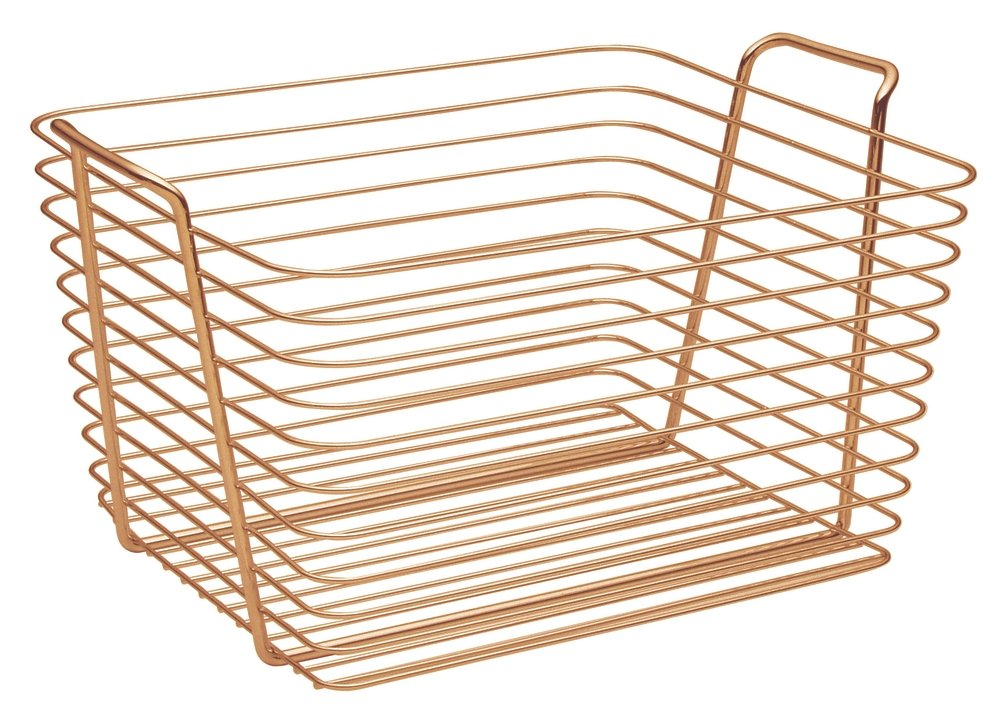 InterDesign Classico Storage Basket, Large Wire Basket for ...