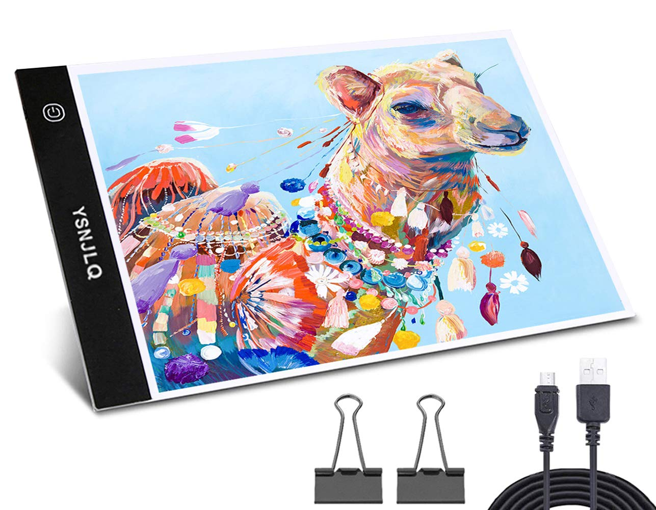 A4 Led Tracing Light Box Tracer Pad Bright Tablet Portable Thin USB Power Board for 5D Diamond Painting Drawing by YSNJLQ