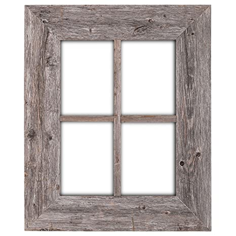 Amazon.com: BarnwoodUSA Rustic Wood Window Frames   100% Authentic  Reclaimed Wood, Weathered Gray (Hanger Included): Kitchen U0026 Dining
