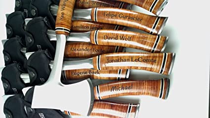 amazon com set of 11 personalized engraved axes with leather grip