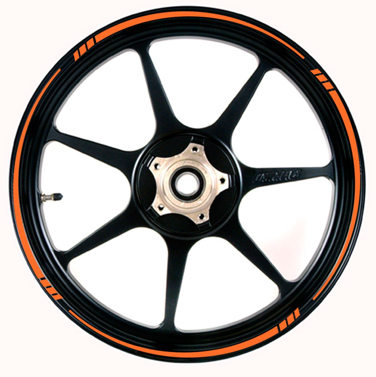 ORANGE Wheel Rim Tape SPEED TAPERED Stripe fit ALL Makes of Motorcycles, Cars, Trucks