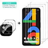 GESMA for Google Pixel 4a Screen Protector and Camera Protector, [3 Screen Protectors+2 Camera Protectors][Touch Sensitive ]