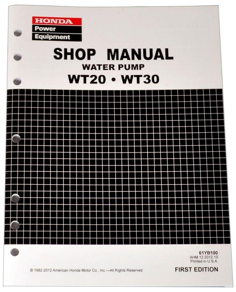 Honda WT20 WT30 Pump Service Repair Shop Manual