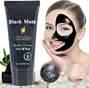 Venus Visage Black Mask,Blackhead Remover Mask,Purifying Peel-off Mask with Activated Charcoal,Deep Cleansing Facial Mask,Shrinking Pores,Brighten Skin,60g