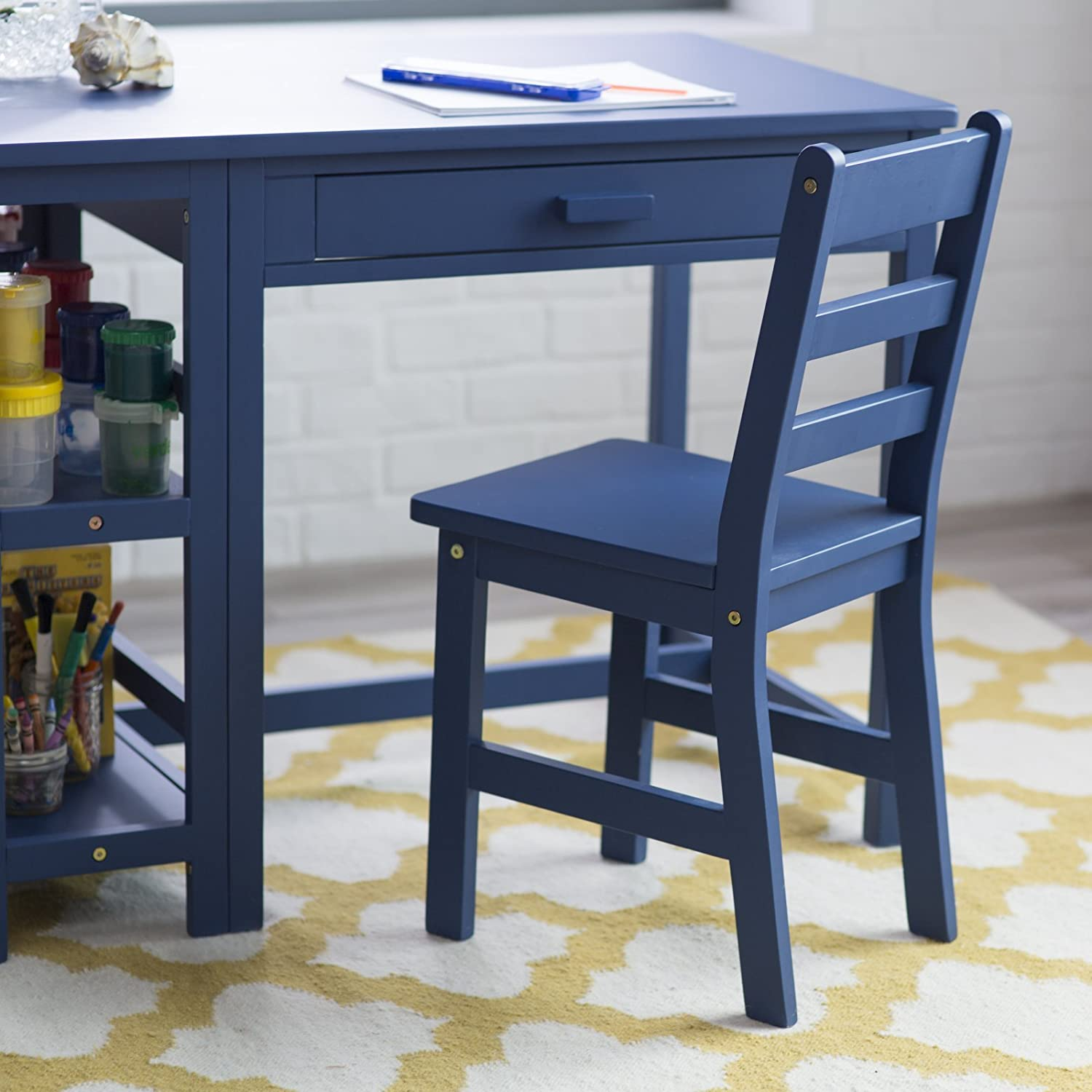 Amazon Lipper Writing Workstation Desk and Chair Navy