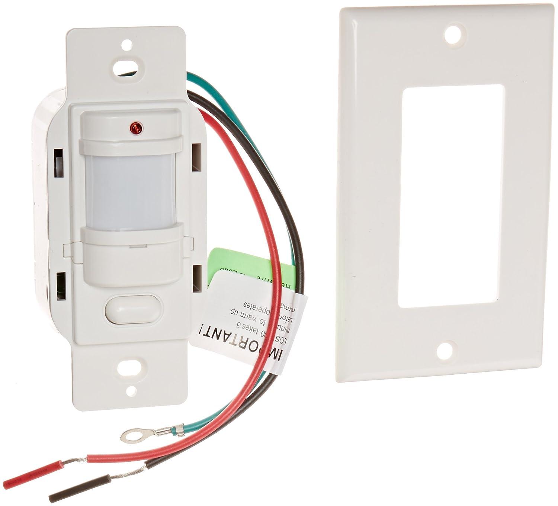 Decoración de iluminación RAB Sensor de ocupación de los1000 W/120 con placas de pared, 1000 W, 120 V, color blanco: Amazon.es: Amazon.es