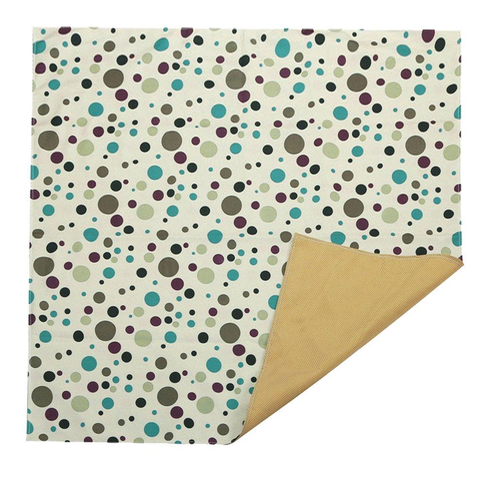 Large Dot Printed Washable No Mess Anti Slip Floor Paint Splash Mat Protector Cover Zicac