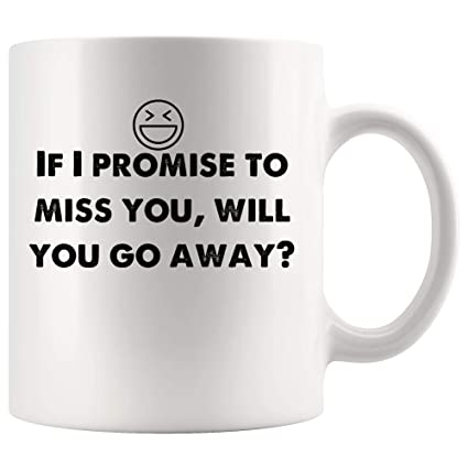Amazon If I Promise To Miss You Will You Go Away Funny Mugs
