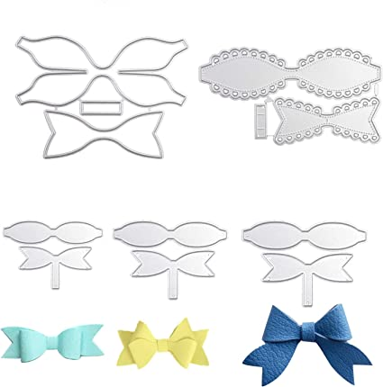 5 Sets Leather Bow Tie Making Templates for Card Making DIY Bow Craft and Gift Wrapping