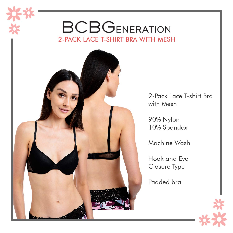 BCBGeneration Womens 2 Pack Wireless Convertible-Back Bra