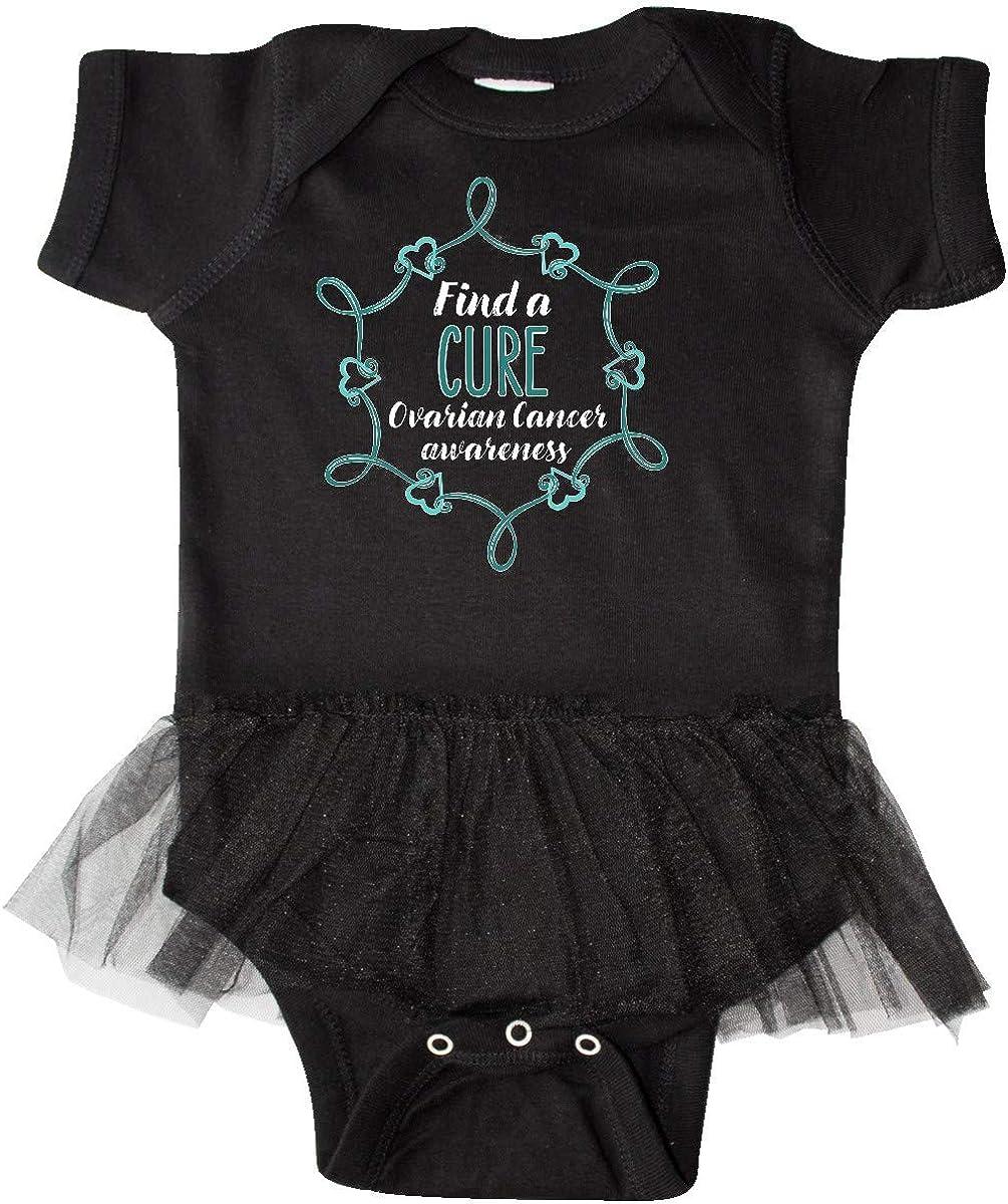 inktastic Ovarian Cancer Awareness Find a Cure Heart Ribbon Infant Tutu Bodysuit