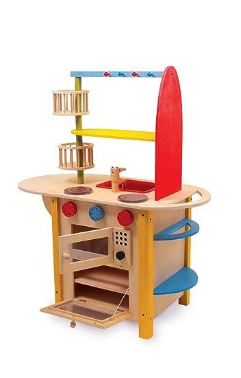 Legler Kinder Spielküche Holz Küche All in one Deluxe: Amazon.de ...